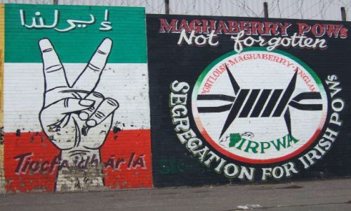Zdjęcie IRLANDIA / IRLANDIA POLNOCNA, ULSTER / BELFAST / MURAL Z DZIELNICY FALLS