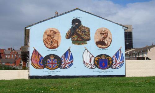 Zdjęcie IRLANDIA / IRLANDIA POLNOCNA, ULSTER / BELFAST / MURAL Z DZIELNICY SHANKILL