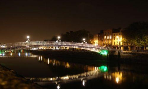 Zdjecie IRLANDIA / - / DUBLIN / DUBLIN NOCĄ