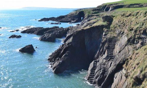 Zdjęcie IRLANDIA / Cork / Ballycotton / Schody do wody