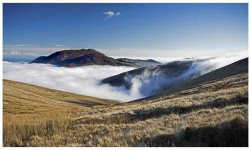 Zdjęcie IRLANDIA / Cooley mountains / Irlandia / W chmurach