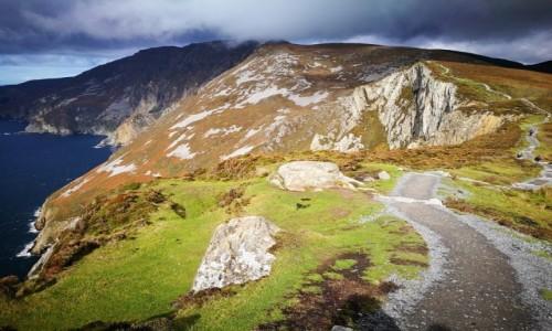 Zdjecie IRLANDIA / Donegal / Slieve League / Ścieżka ku chmurom