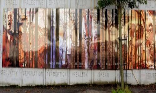 Zdjecie IRLANDIA / Belfast / Belfast / Ściana Pokoju