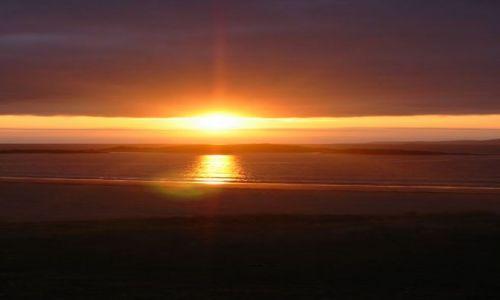 Zdjecie IRLANDIA / brak / Killary  / plaża o zachodzie słońca