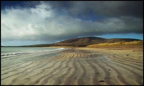 Zdjecie IRLANDIA / półwysep Dingle / Ventry beach / przed burzą..