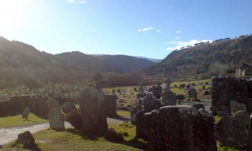 Zdjecie IRLANDIA / Góry Wicklow / Glendalough / Cmentarz