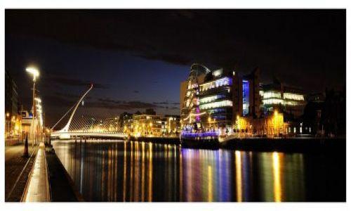 Zdjecie IRLANDIA / Dublin / Rzeka Liffey / Dublin noca