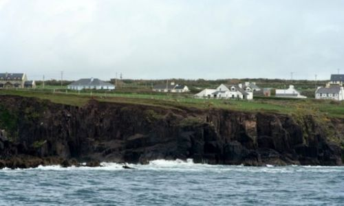 IRLANDIA / hrabstwo Kerry / Dingle / Zatoka Dingle - widok z kutra