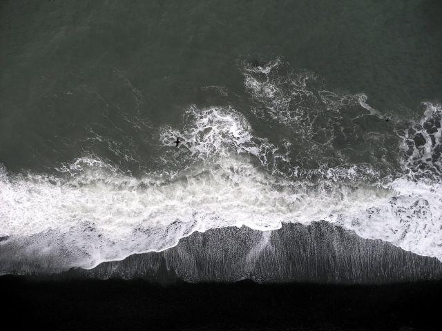 Zdjęcia: VIK, poludnie, po prostu..czarna plaża widziana z klifu :), ISLANDIA