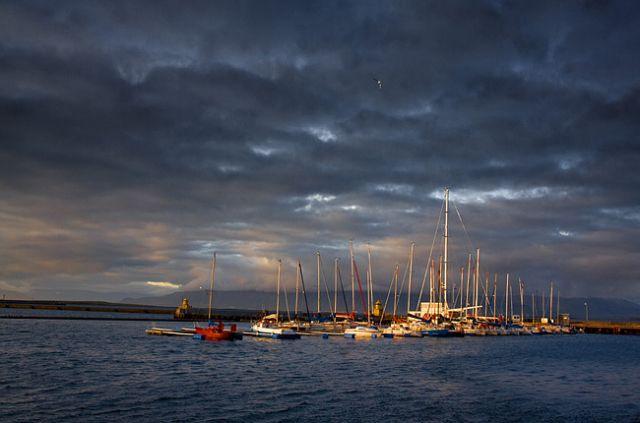 Zdjęcia: Reykjavik, Port jachtowy., ISLANDIA
