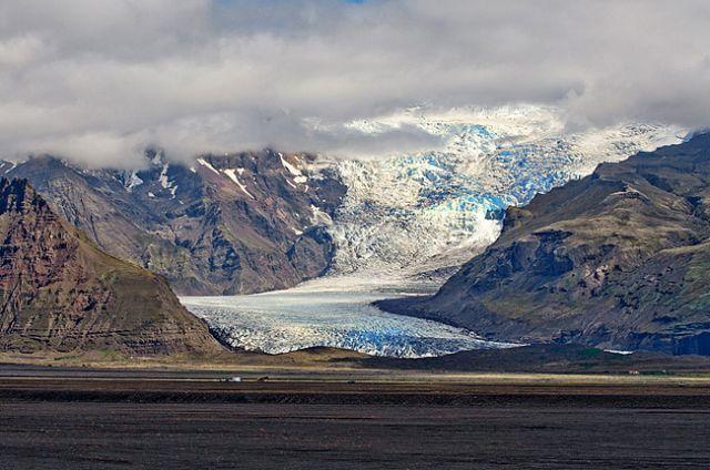 Zdjęcia: Vatnajokull, Svinafelljokull, ISLANDIA