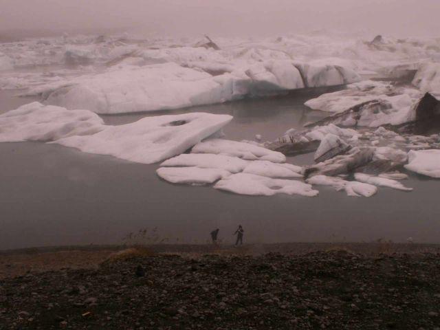 Zdjęcia: jezioro przy lodowcu vatnajokull, poludniowo-wschodnia islandia, jokulsarlon ice-lagoon, ISLANDIA
