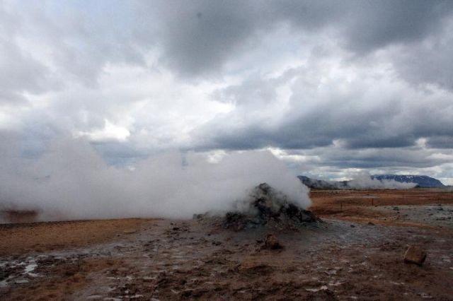 Zdj�cia: P�nocna Islandia, dymi�ca ziemia, ISLANDIA