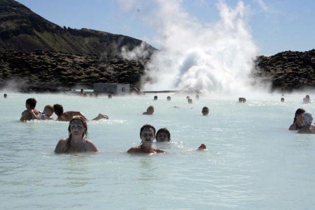 Zdjęcia: Błękitna Laguna, Okolice Reykjaviku, mleczna kąpiel, ISLANDIA