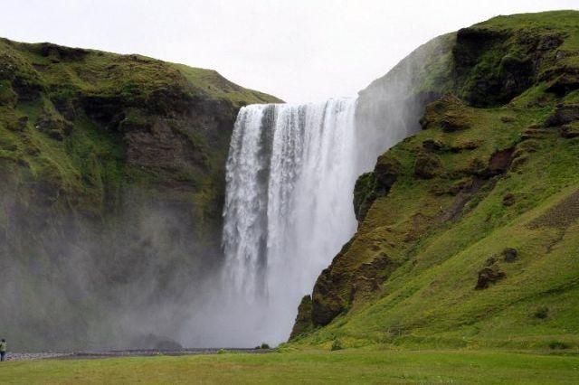 Zdjęcia: Wodospad Skogar, południowa Islandia, wodospad, ISLANDIA