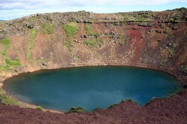 Zdjęcia: Niedaleko Reykjaviku, południowo-zachodnia Islandia, tęczowy krater, ISLANDIA