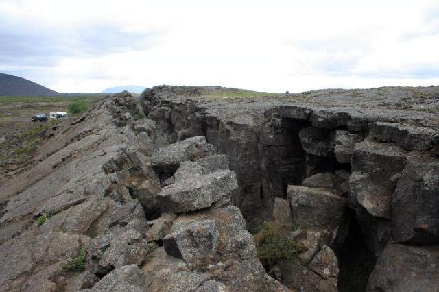 Zdj�cia: Pingvelir - miejsce styku p�yt kontynentalnych, po�udniowo-zachodnia Islandia, p�kni�cie, ISLANDIA