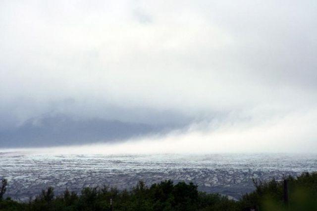 Zdjęcia: lodowiec Vatna, południowa Islandia, parujący lodowiec, ISLANDIA