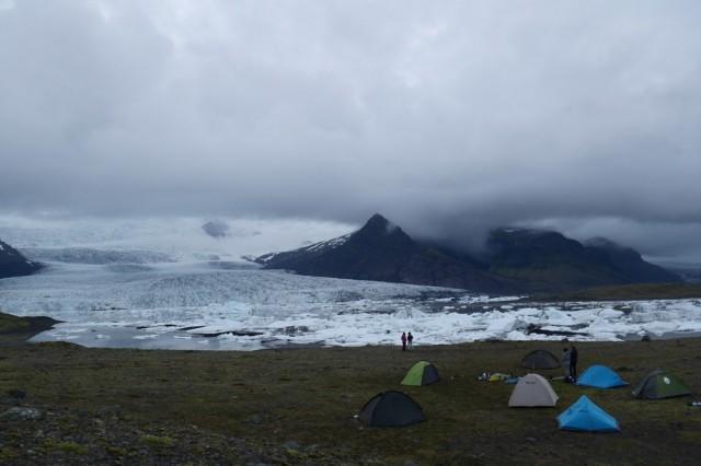 Zdjęcia: Islandia, Islandia, Nocleg pod Lodowcem Fjallsárlón, ISLANDIA