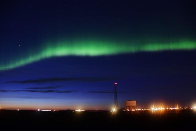 Zdjęcia: Keflavik, Keflavik, Zorza Polarna nad Keflavikiem, ISLANDIA