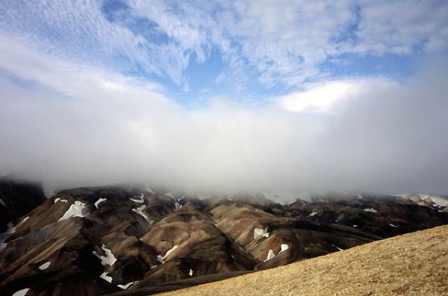 Zdjęcia: Islandia, Landmannalaugar, Widok z Brenninsteinsalda, ISLANDIA