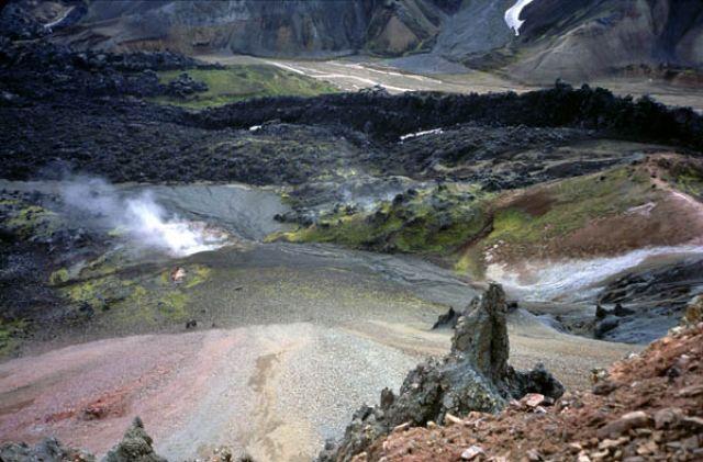 Zdjęcia: Islandia, Landmannalaugar, widok z Grani płonących kamieni, ISLANDIA