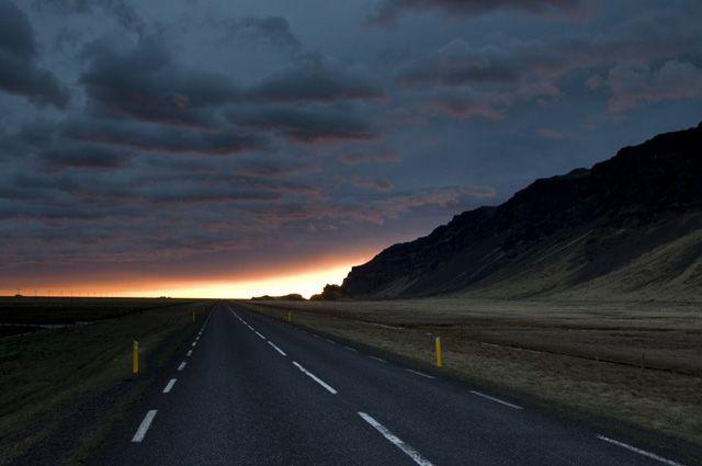 Zdjęcia: W poblizu Skogar, Zachod slonca - czyli koniec pierwszego dnia:), ISLANDIA