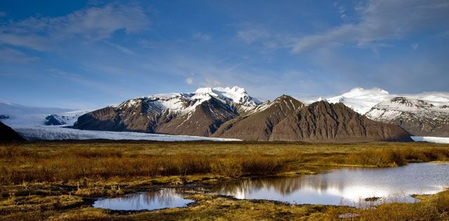 Zdjęcia: Skaftafell, Widok na lodowiec Skaftafellsjokull, ISLANDIA