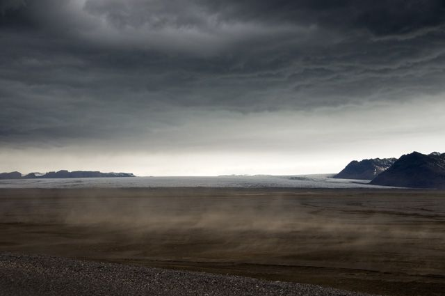 Zdjęcia: Skaftafell, Lodowiec Skeidararjokull i wiejacy wiaterek..., ISLANDIA
