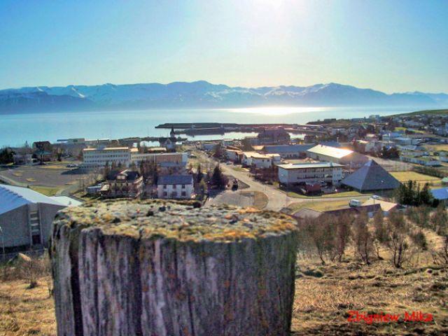 Zdjęcia: Husavik, Polnocna Islandia, Panorama Husaviku, ISLANDIA