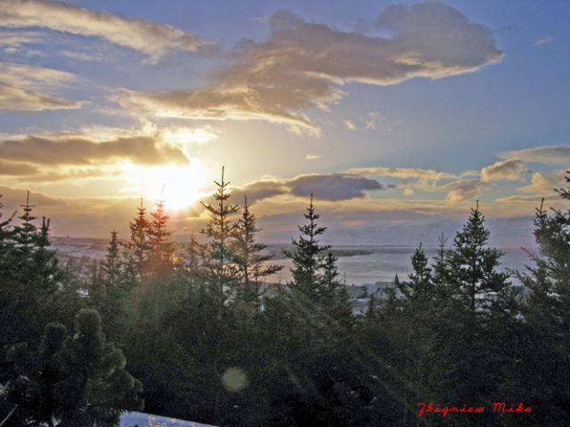 Zdjęcia: Husavik, Polnocna Islandia, Husavik zima, ISLANDIA