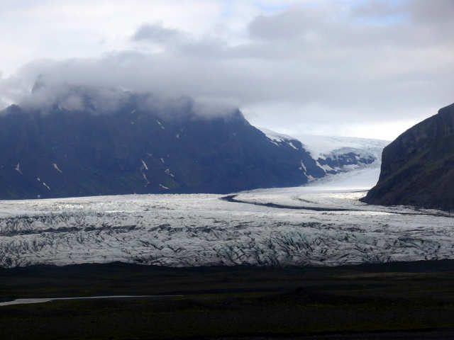 Zdjęcia: Okolice lodowca Vatnajokull, Południowa Islandia, Jęzor lodowca Vatnajokull, ISLANDIA