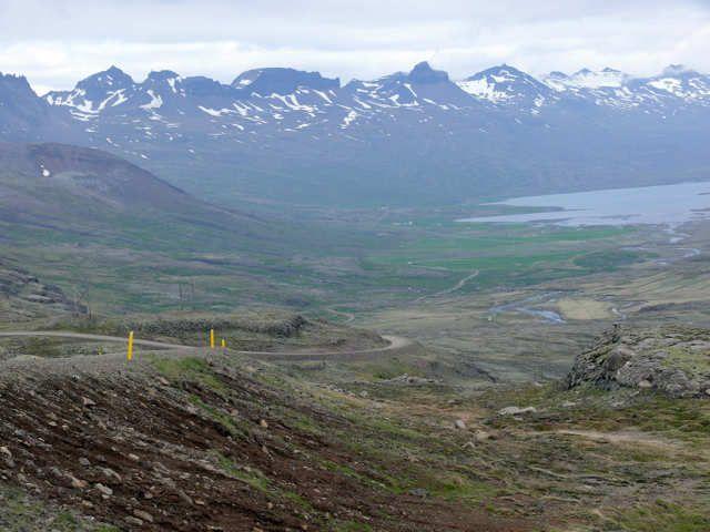 Zdjęcia: Okolice fiordu Berufjóróur, Południowo Wschodnia Islandia, Widok z drogi 939, ISLANDIA
