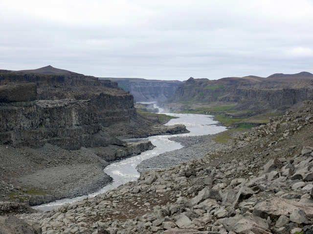 Zdj�cia: Wodospad Dettifoss, P�. Wschodnia Islandia , W�w�z rzeki Jokulsa a Fjollum, ISLANDIA