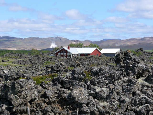 Zdjęcia: Okolice j. Myvatn, Północna Islandia, Pole lawy , ISLANDIA