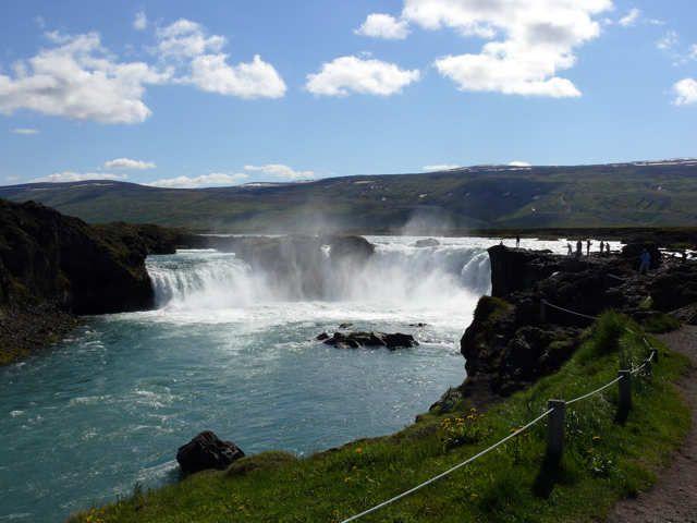 Zdjęcia: Gooafoss , Północna Islandia, Gooafoss - wodospad bogów, ISLANDIA
