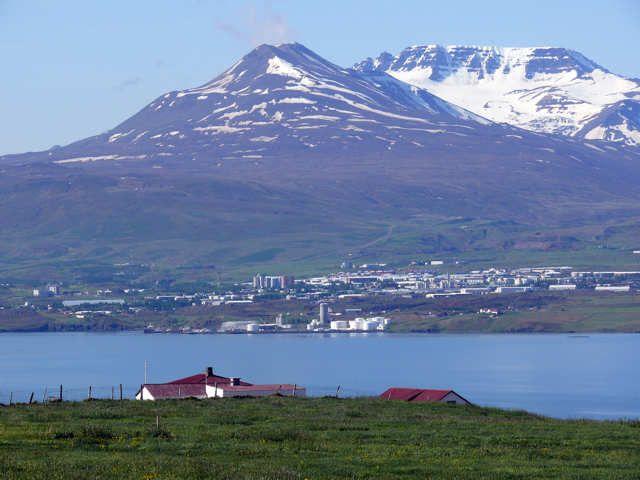 Zdj�cia: Fiord Eyjafj�ur, P�nocna Islandia, Akureyri, ISLANDIA
