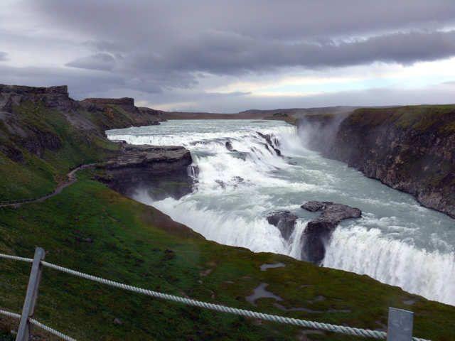 """Zdjęcia: Wodospad Gullfoss, Południowa Islandia, Gullfoss - """"złoty wodospad"""", ISLANDIA"""