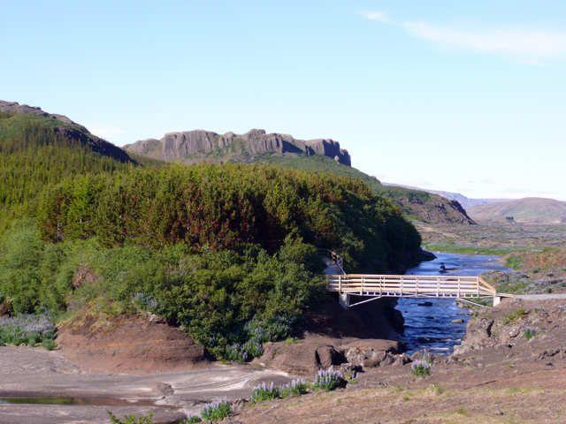 Zdj�cia:  okolice St�ng, Po�udniowa Islandia, rzeka Pj�rsa , ISLANDIA