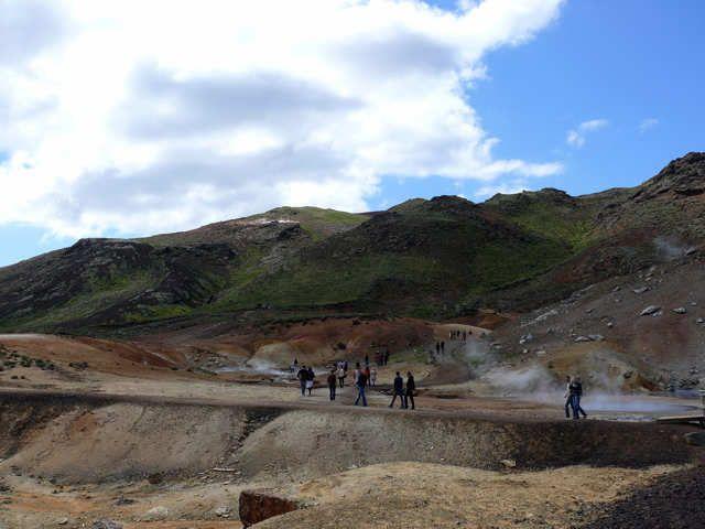 Zdjęcia: Pole geotermalne Seltun, Pd. Zach. Islandia, Pole geotermalne Seltun, ISLANDIA