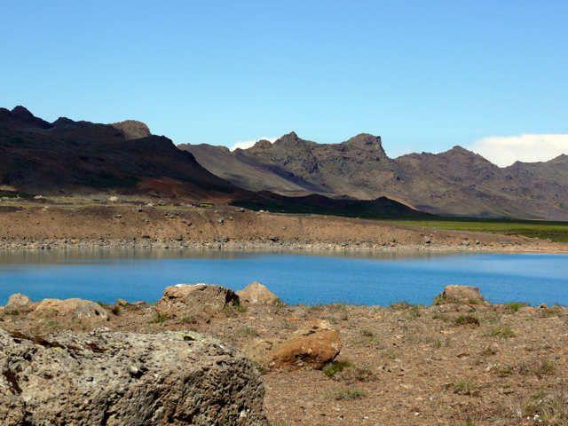 Zdjęcia: Okolice pola geotermalnego Seltun, Pd. Zach. Islandia, Błękitne oczko, ISLANDIA
