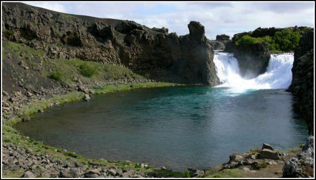 Zdjęcia: Islandia poludiowo zachodnia, Islandia poludiowo zachodnia, Hjalparfoss, ISLANDIA