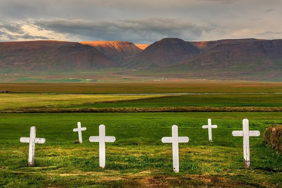 Zdjęcia: Glaumbær , Skagafjörður-Sysla, Cmentarz w Glaumbær , ISLANDIA