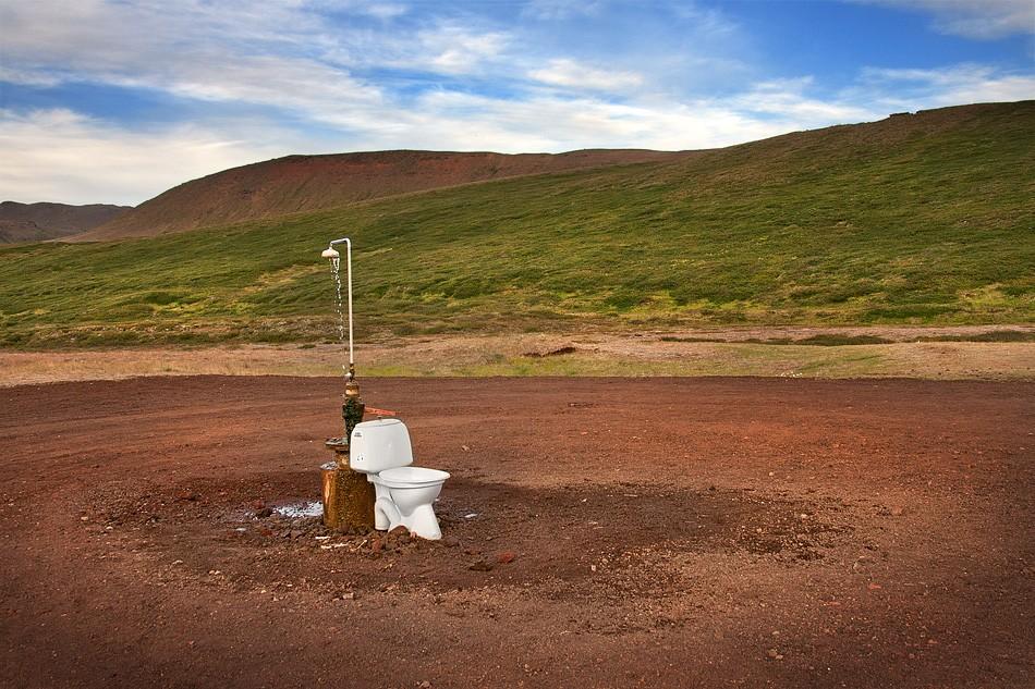 Zdjęcia: Krafla, północno-wschodna Islandia, wc i prysznic na świeżym powietrzu :), ISLANDIA