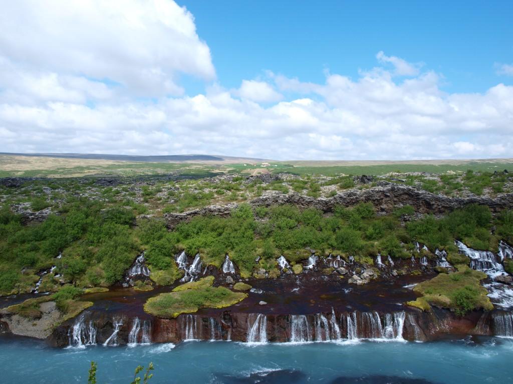 Zdjęcia: Zachodnia Islandia, Hraunfossar ujęcie 2, ISLANDIA