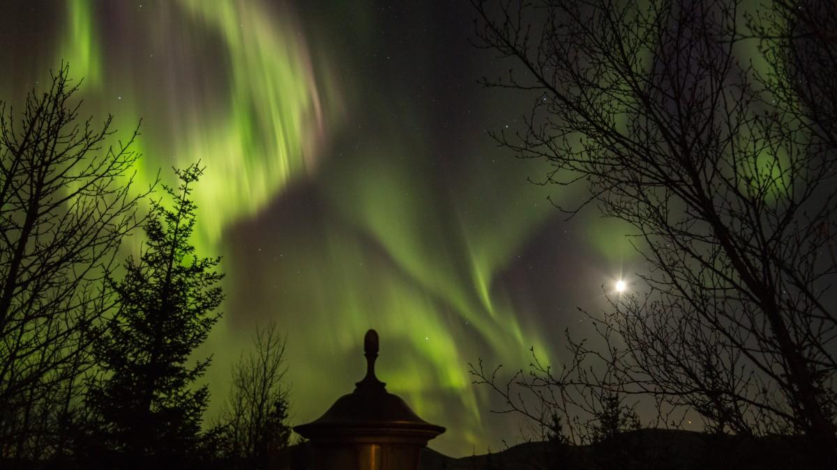 Zdjęcia: Islandia, Northern Lights over Iceland, ISLANDIA