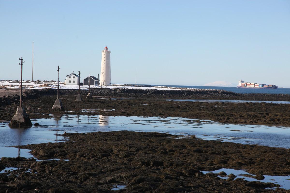 Zdjęcia: Seltjarnarnes, Reykjavik, Wejscie do portu, ISLANDIA
