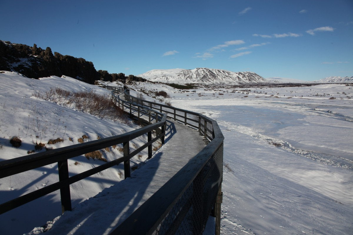 Zdjęcia: ., Park Narodowy Thingvellir , Ścieżka, ISLANDIA