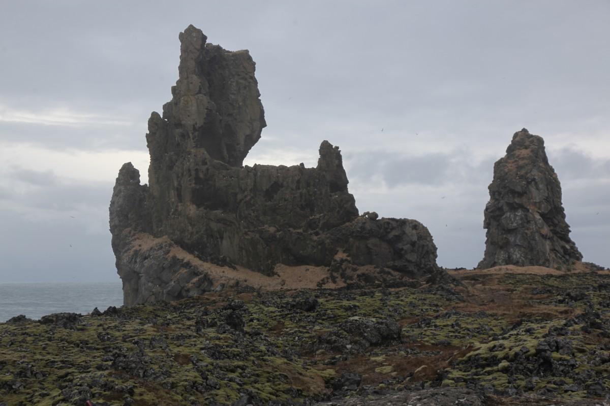 Zdjęcia: Malarrif, Półwysep Snæfellsnes, Lóndrangar, bazaltowy zamek, ISLANDIA