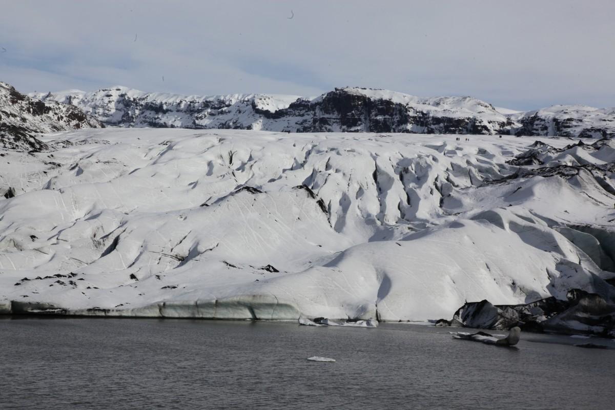 Zdjęcia: Lodowiec Myrdalsjokull , Południowe wybrzeże, Dla ochłody, ISLANDIA